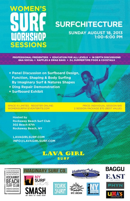 Lava Girl Surf Workshop Flyer