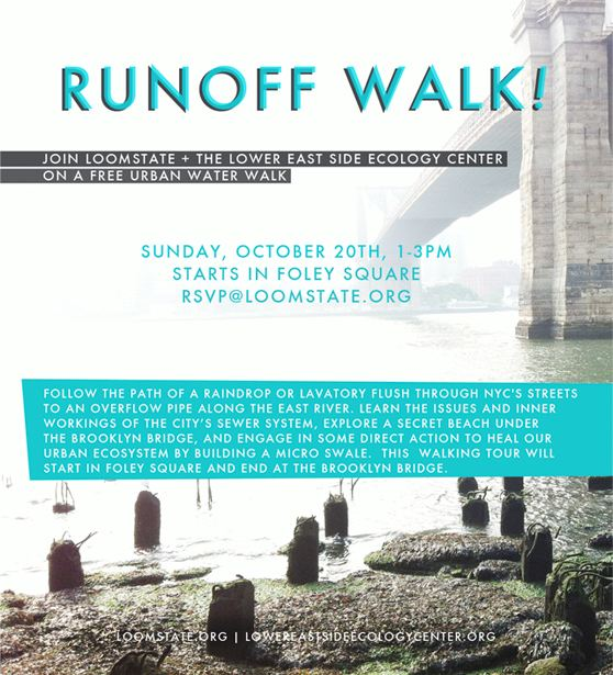 Loomstate: Runoff Walk – October 20, 2013