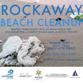 Rockaway Beach Cleanup with Surfrider Foundation NYC – June 1, 2014