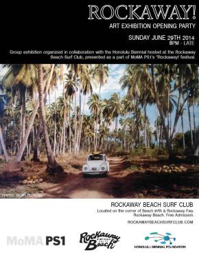 Opening Party for ROCKAWAY! Group Art Exhibition – June 29, 2014