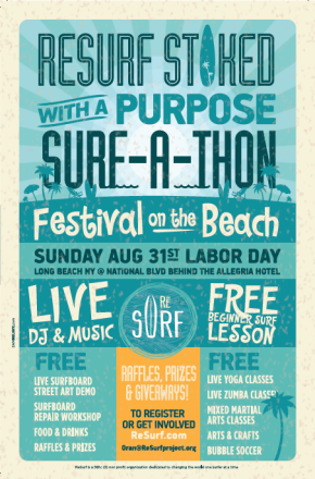 ReSurf, Stoked with a Purpose Surf-a-Thon and Festival – Aug. 31, 2014
