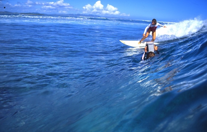 MARITXU DARRIGRAND - Surfing in Fiji Close to Great Water Photographer Sunny Miller During the Roxy Pro Contest